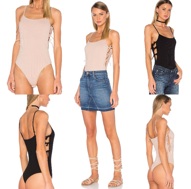 privacy please arden bodysuit cut out side tie