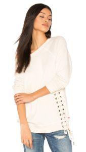 N:Philanthropy mika lace up sweatshirt white