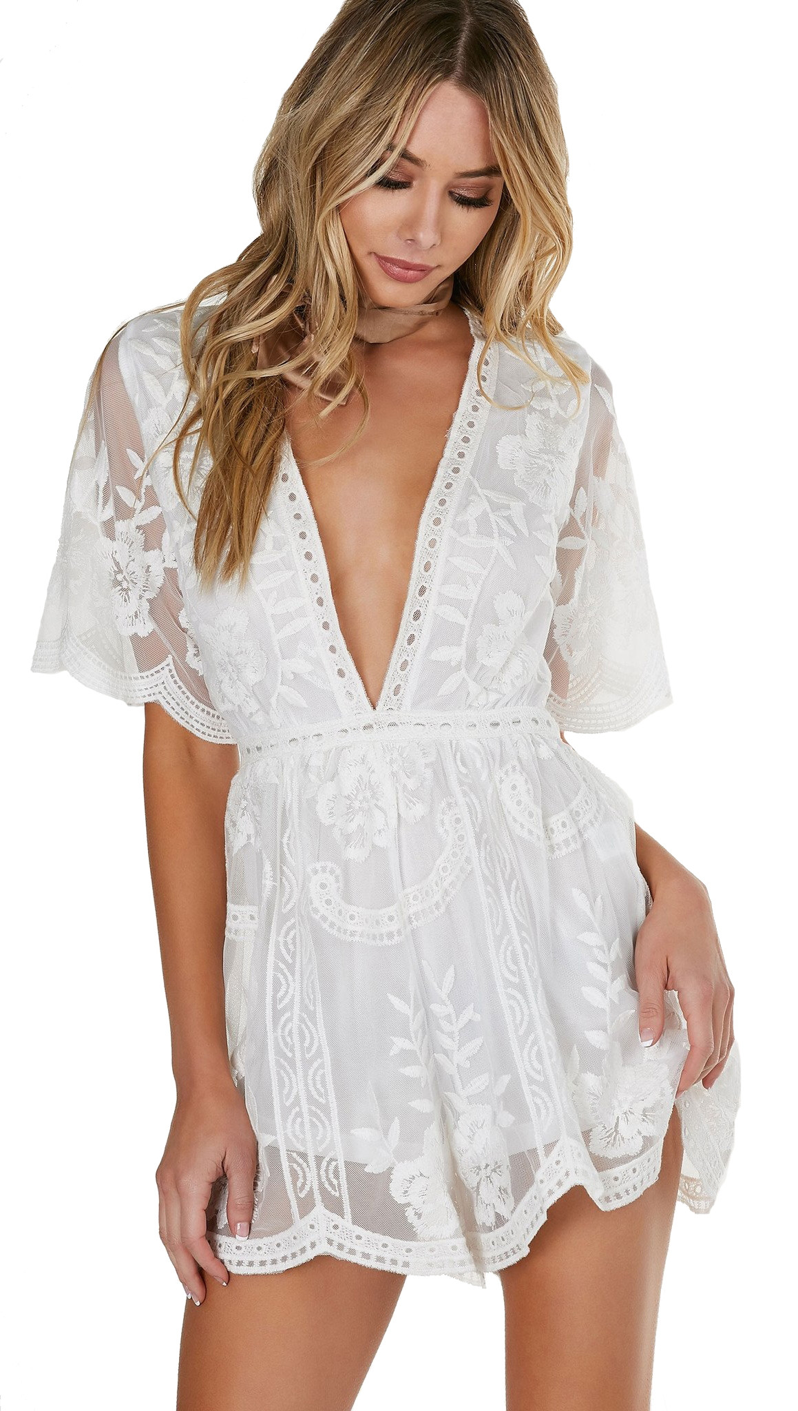 antique lace romper white crochet shorts